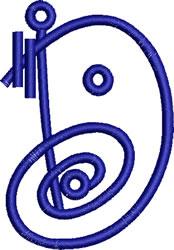 Coils Letter D embroidery design
