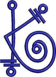 Coils Letter  K embroidery design