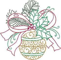 Redwork Christmas Decooration embroidery design