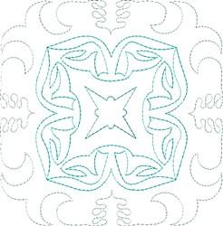 Blue Diamond Single Run Quilt Block embroidery design