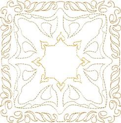 Desert Sun Single Run Quilt Block embroidery design
