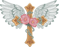 Winged Cross 1 embroidery design