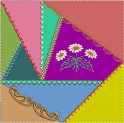 ITH Crazy Quilt Block embroidery design