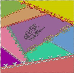 ITH Crazy Quilt Block with Butterfly embroidery design