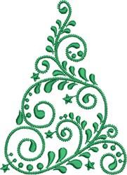 Swirled Christmas Tree embroidery design