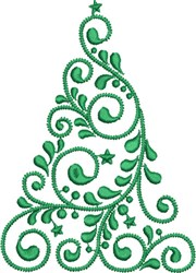 Christmas Tree Style embroidery design
