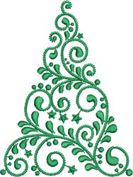 Christmas Tree Swirl embroidery design