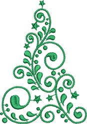 Modern Christmas Tree embroidery design