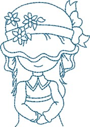 Country Sue in Bonnet embroidery design