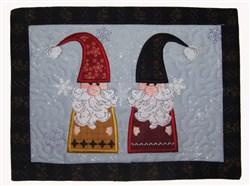 Christmas Elves Mug Mat embroidery design