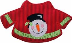 Snowman Sweater Applique embroidery design