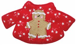 Gingerbread Boy Christmas Sweater Free Standing Ap embroidery design