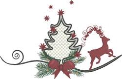 Tree & Reindeer embroidery design