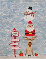 Christmas Trio Mini Quilt embroidery design