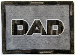 ITH Dad Mug Rug 1 embroidery design