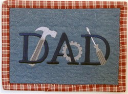 ITH Dad Mug Rug 3 embroidery design