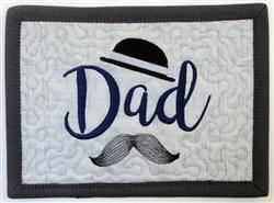 ITH Dad Mug Rug 4 embroidery design