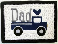 ITH Dad Mug Rug 5 embroidery design