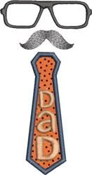 Dad Applique 2 embroidery design
