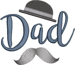 Dad with Bowler embroidery design