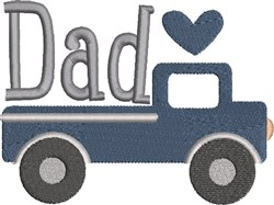 Dad Truck embroidery design