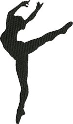 Ballet Pose embroidery design