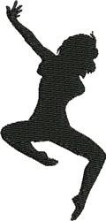 Modern Dancer embroidery design