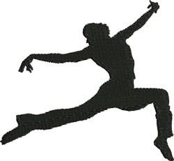 Male Contemporary Dancer embroidery design