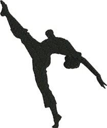 Universal Dance Silhouette embroidery design