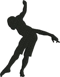 Pointed Male Pose embroidery design