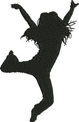 Male Modern Dancer embroidery design