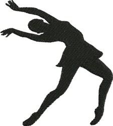 Female Ballerina embroidery design