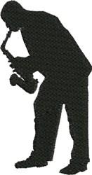 Jazz Sax Musician embroidery design