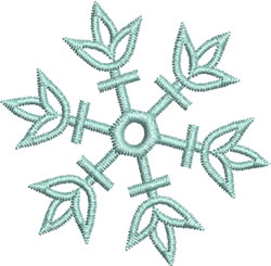 Blue Snowflake embroidery design