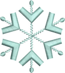 Ice Blue Snowflake 7 embroidery design