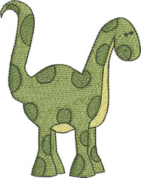 Baby Dino Standing embroidery design