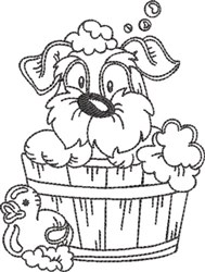 Dog Bath 1 embroidery design