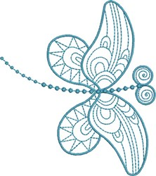 Dragonfly Magic embroidery design