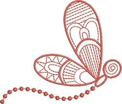 Dragonfly in Flight embroidery design