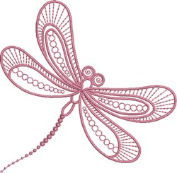 Dragonfly Passion embroidery design
