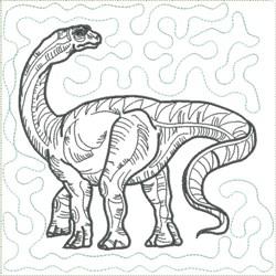Dinosaur 10 Quilt Block embroidery design