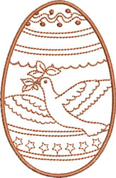 Easter Dove embroidery design