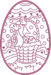 Easter Basket Egg embroidery design