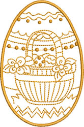 Easter Basket with Dots embroidery design