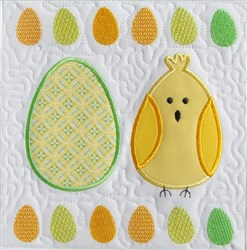 Easter Egg & Chick Quilt Block 1 embroidery design