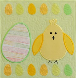 Easter Egg & Chick Quilt Block 3 embroidery design