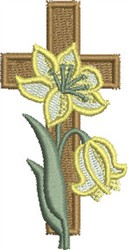 Easter Lily and Cross embroidery design