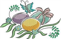 Pastel Easter Eggs embroidery design