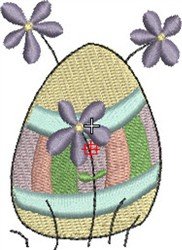 Easter Egg & Flowers embroidery design