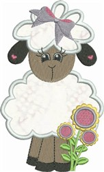 Standing Lamb embroidery design